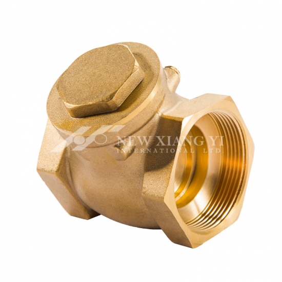 Tee pattern swing check valve